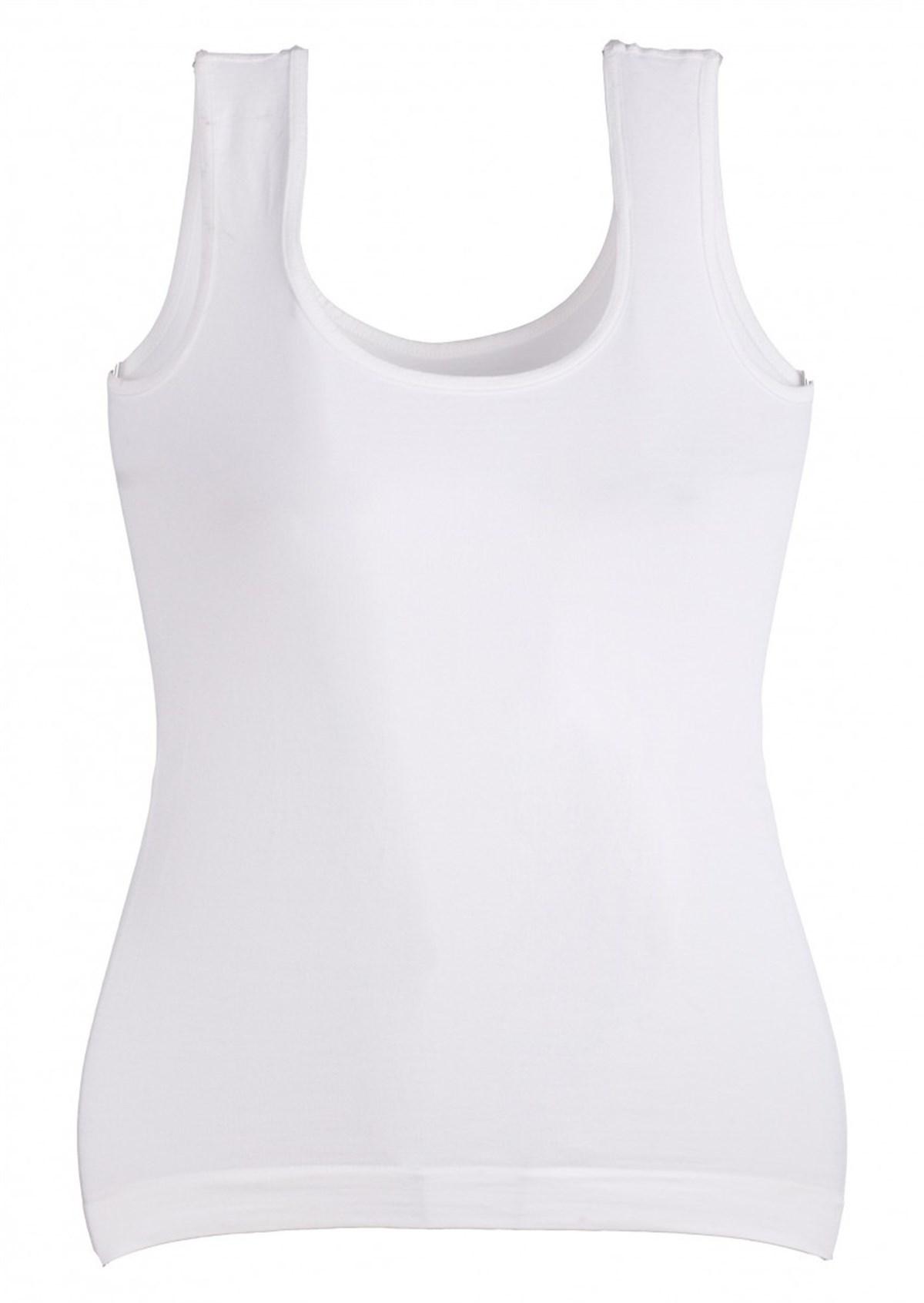 Moda Çizgi Kalın Askılı Dikişsiz Atlet 1012