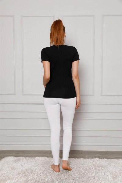 Moda Çizgi Penye Likralı Tayt 5877P - Thumbnail