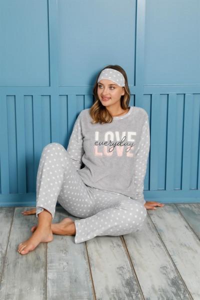 Moda Çizgi - Moda Çizgi Welsoft Polar Kadın Pijama Takımı 8458