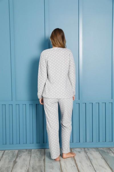 Moda Çizgi Welsoft Polar Kadın Pijama Takımı 8458 - Thumbnail