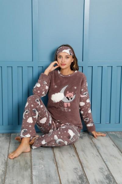 Moda Çizgi - Moda Çizgi Welsoft Polar Kadın Pijama Takımı 8461