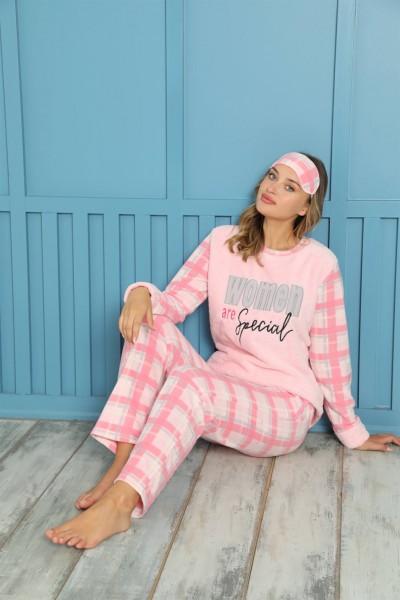 Moda Çizgi - Moda Çizgi Welsoft Polar Kadın Pijama Takımı 8462