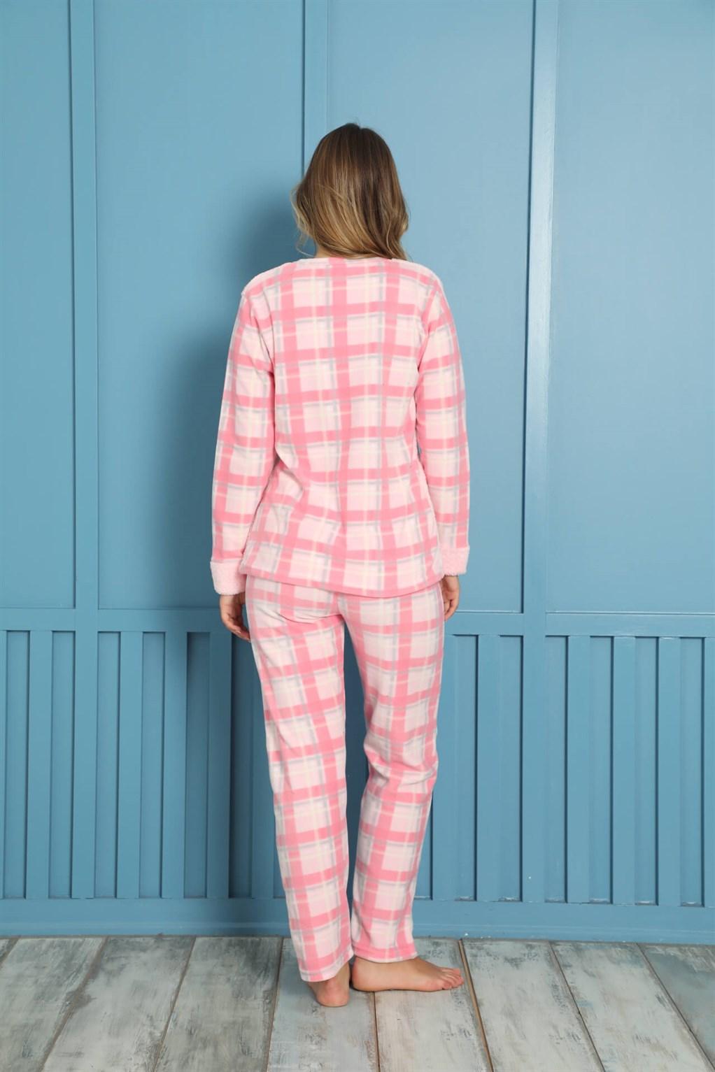 Moda Çizgi Welsoft Polar Kadın Pijama Takımı 8462