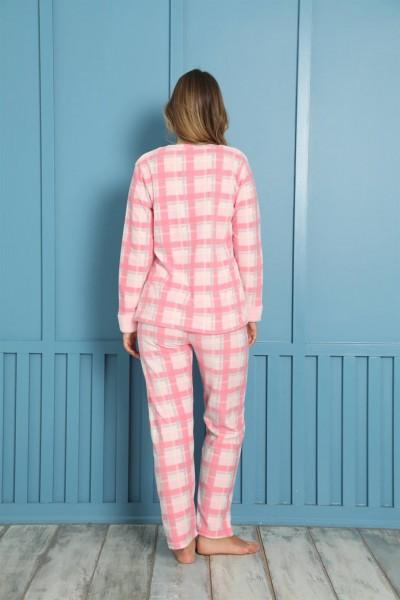 Moda Çizgi Welsoft Polar Kadın Pijama Takımı 8462 - Thumbnail