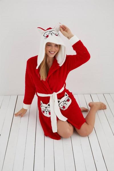 Moda Çizgi - Moda Çizgi Welsoft Polar Kadın Sabahlık 808005