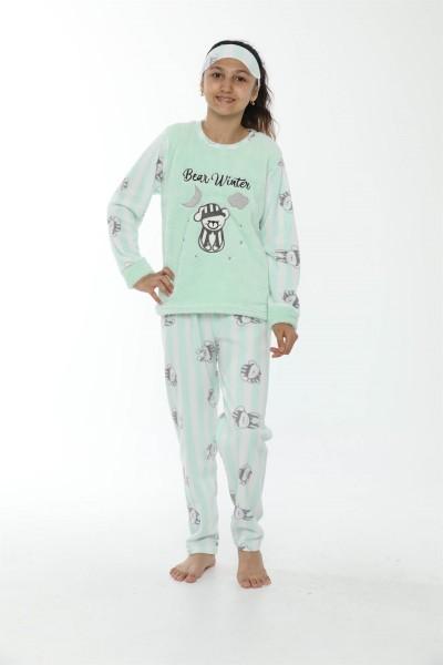 Moda Çizgi - WelSoft Polar Kız Çocuk Pijama Takımı 4533