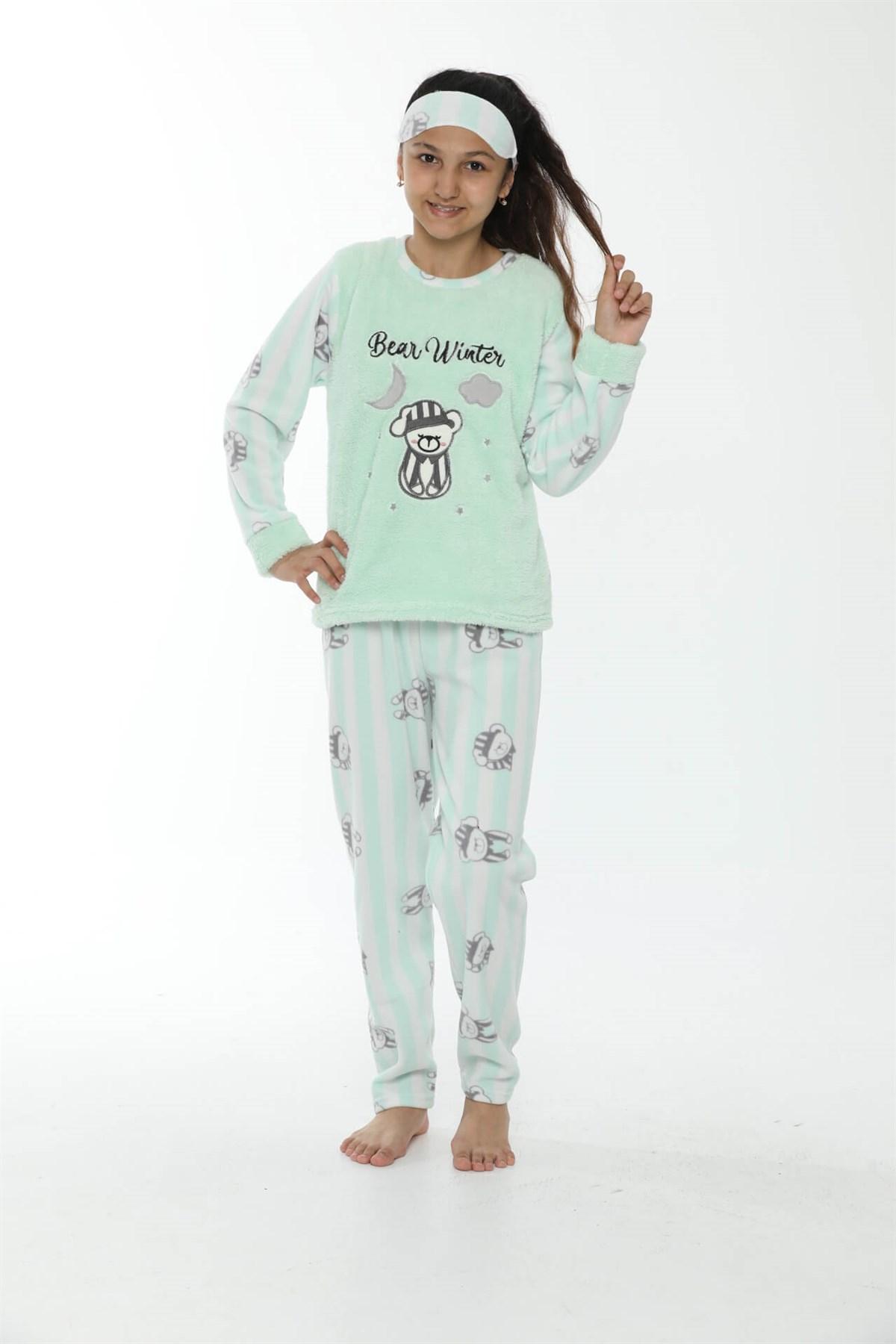 WelSoft Polar Kız Çocuk Pijama Takımı 4533