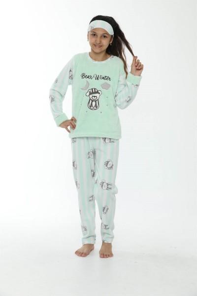 WelSoft Polar Kız Çocuk Pijama Takımı 4533 - Thumbnail