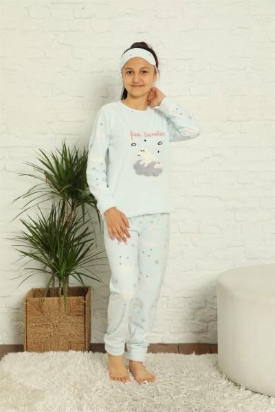 Moda Çizgi WelSoft Polar Kız Çocuk Pijama Takımı 4584 - Thumbnail