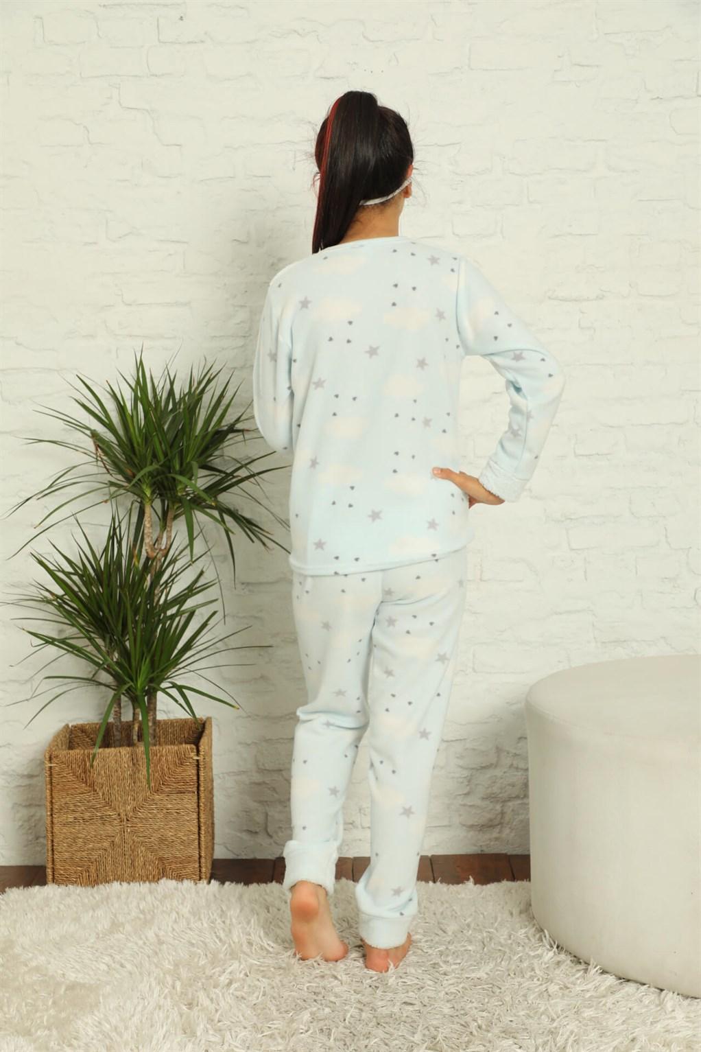 Moda Çizgi WelSoft Polar Kız Çocuk Pijama Takımı 4584