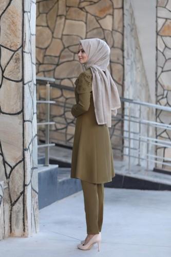 Pelerinli Takım Elbise mc0034 Haki - Thumbnail