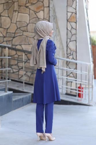 Pelerinli Takım Elbise mc0034 İndigo - Thumbnail