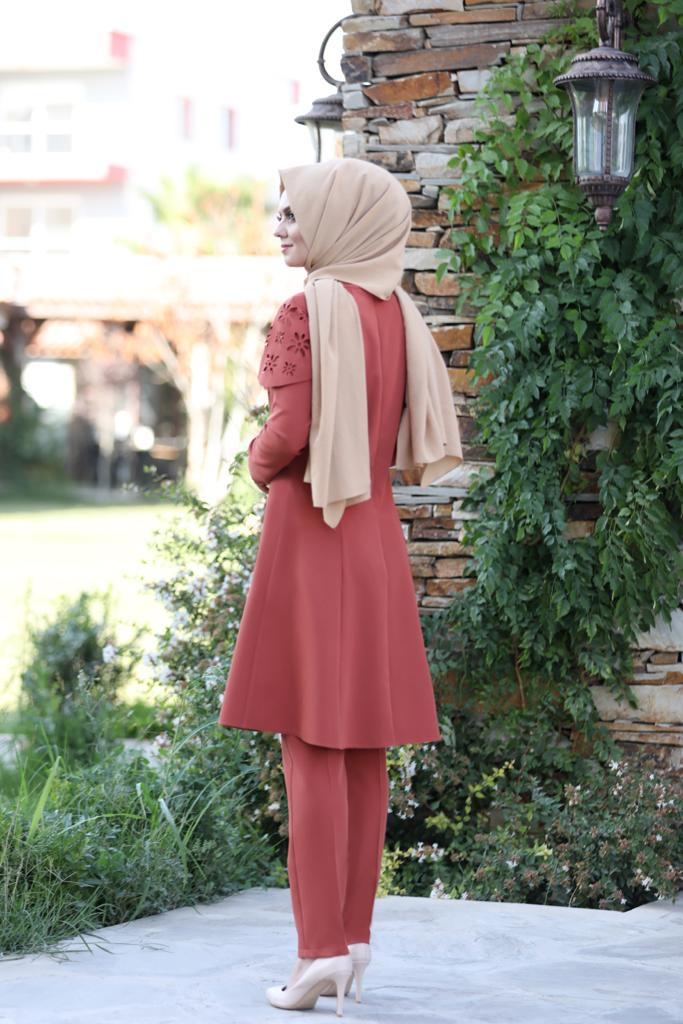 Pelerinli Takım Elbise mc0034 Kiremit