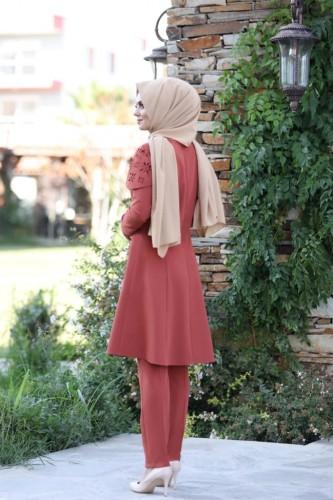 Pelerinli Takım Elbise mc0034 Kiremit - Thumbnail