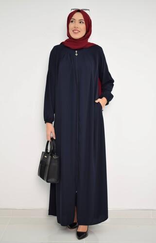 Moda Çizgi - Pileli Ferace Lacivert MC2018