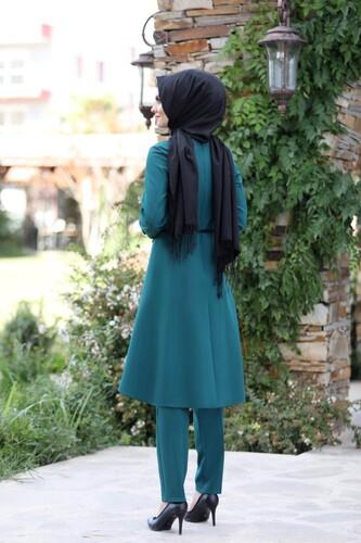 Pileli Takım Elbise MC0035 Petrol - Thumbnail