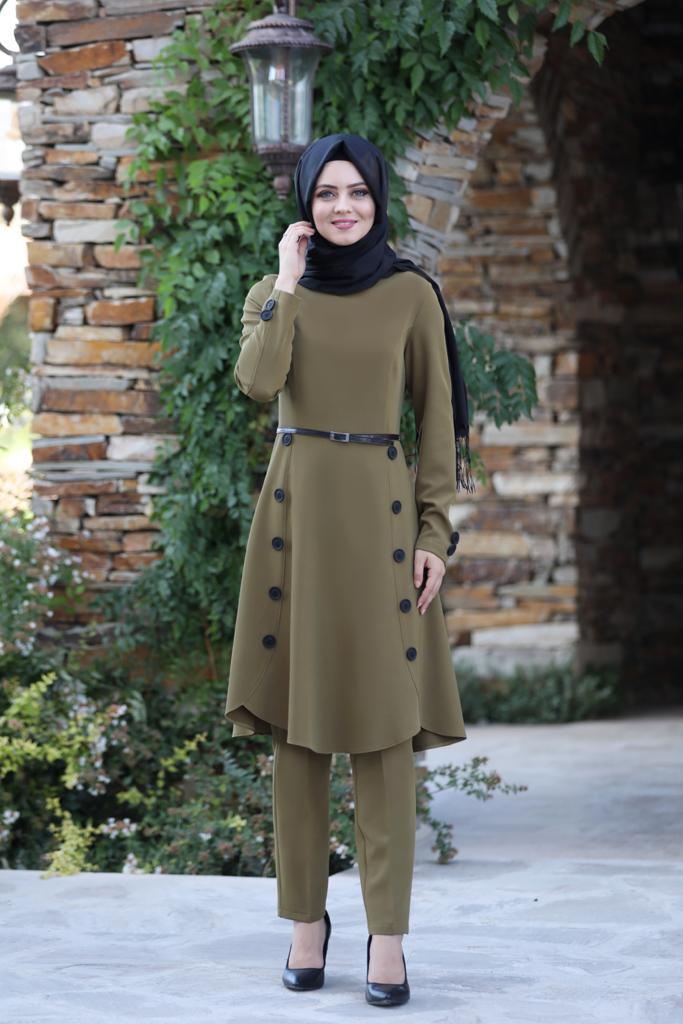 Pileli Takım Elbise MC0035 Vizon
