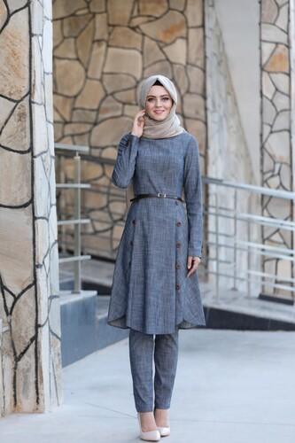 Moda Çizgi - Tensel Kumaş Tesettür Takım mdc9633